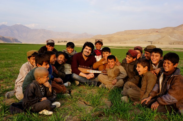 Homayoun Sakhi- with children of Afghanistan